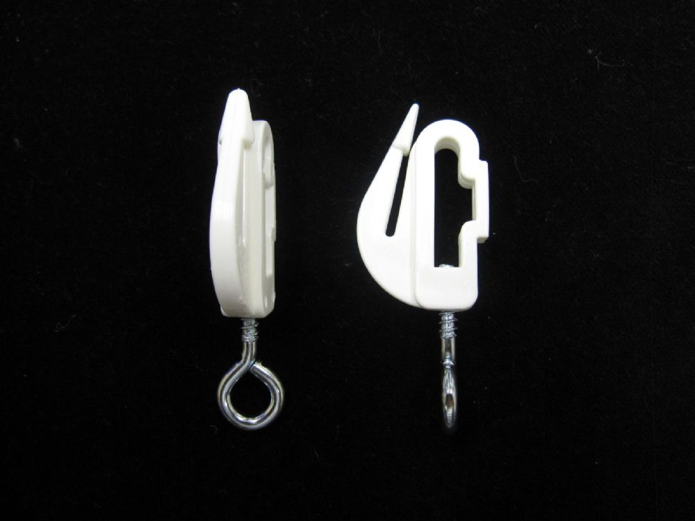 2 Harrison Drape White Drape Curtain Track End Stops Endstops